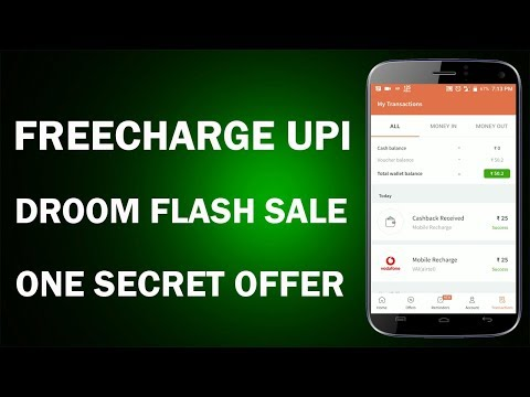 Freecharge 100% Cashback Offer !! Droom Flash Sale !! One Secret Offer !!