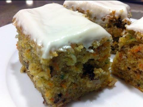 How to bake confetti Carrot Cake bars