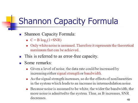 Shannon capacity(NOISY CHANNEL), Nyquist bit rate (NOISELESS)