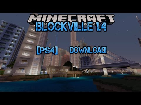 Minecraft Ps4/Ps3: Blockville City 1.4 DOWNLOAD!