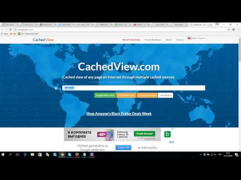How to load website from cache - Load old version of website