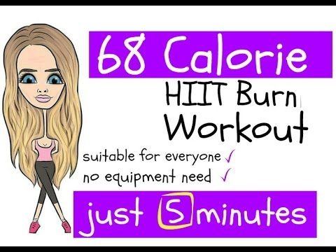5 Minute High Calorie Hiit Burning Workout