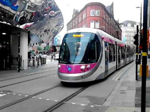 Trams at the new extension at birmingham new street. 18.6.2016.