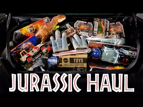 TOY HAUL Jurassic World Fallen Kingdom with BARCODES + More Toys