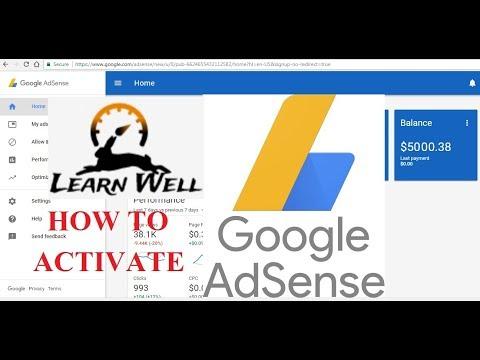GOOGLE AdSense - How to Active