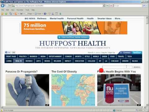 Eye tracking while participant works on Huffington Post Website.