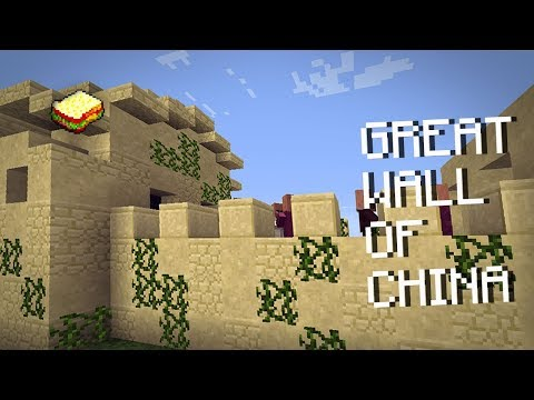 Minecraft, MCPE 1.2 | How to make a Great Wall Of China