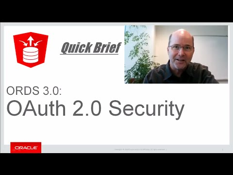 ORDS 3.0 OAuth 2.0 Security