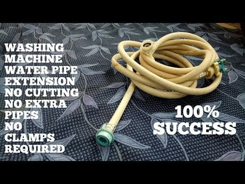 How To Extend Washing Machine Water Inlet Hose/Pipe-No Cutting-No Clamps-Required-Diy Tips Tricks