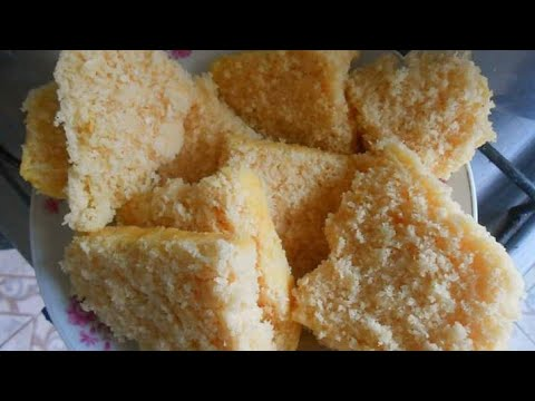Eggless Rice And Coconut Waterbath Cake (Mauritian Poutou) - Without Oven Gluten Free
