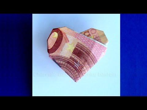 Geldscheine Falten Herz Geldgeschenke Basteln Zur Hochzeit