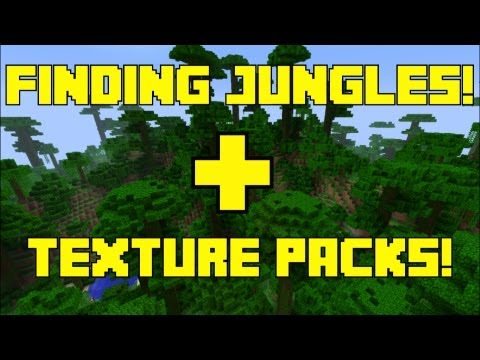 Minecraft 360 | Finding Jungle Biomes in Your World | How to Choose Your Texture Packs