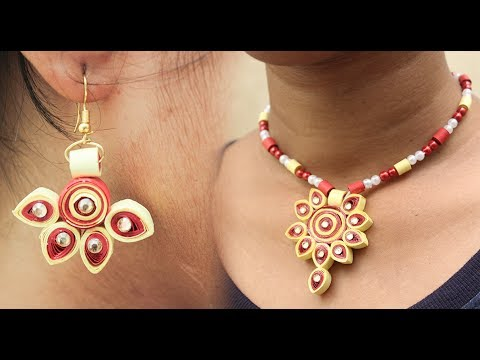 Easy Way To Make Necklaces And Earrings With Quilling Paper | DIY - DIY Crafts