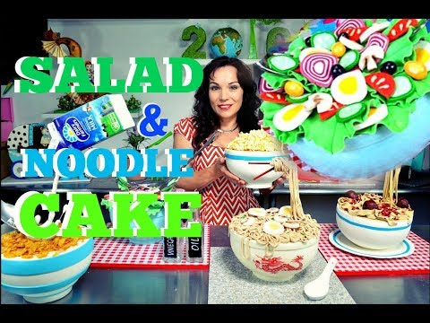 SALAD & NOODLE BOWL FONDANT CAKES   YOU CAN PICK THEM UP!   BY VERUSCA WALKER