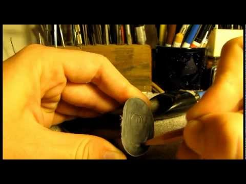 How to make plugs or gauges for ears - Water Buffalo Horn w/ inlay