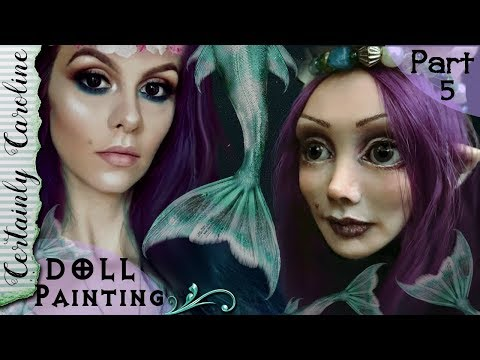 How to Paint a Doll Face, Doll Portrait Series P5, Paint a Polymer Clay Doll with Genesis Paints