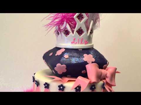 Diamonds & Bows Birthday Cake for Kids