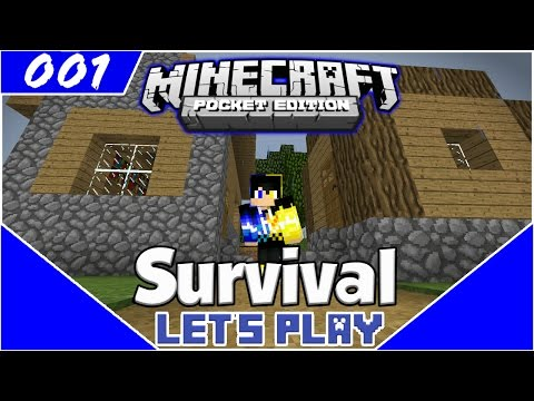 Survival Let's Play EP.1- DIAMONDS ON A RANDOM SEED!-Minecraft PE(Pocket Edition)
