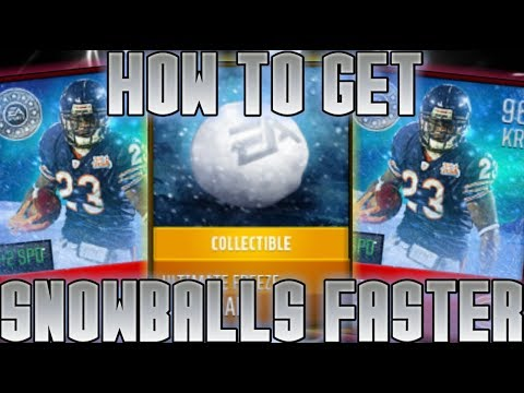 HOW TO GET SNOWBALLS FASTER! MADDEN MOBILE ULTIMATE FREEZE! MADDEN MOBILE 18! MADDEN MOBILE SNOWBALL