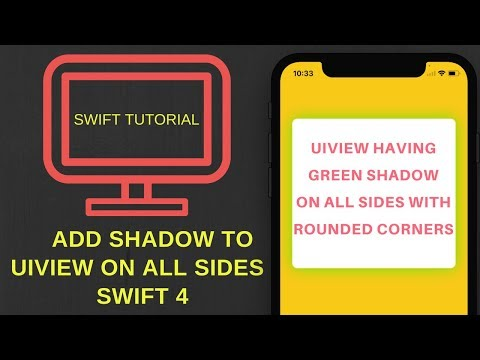 Add shadow to UIView on all sides in Swift 4