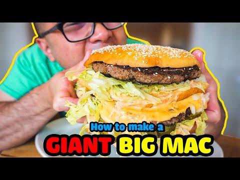 How to make a GIANT BIG MAC  DIY  COPYCAT RECIPE