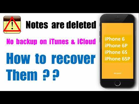 How to recover deleted notes on iPhone6/6P/6S/6SP