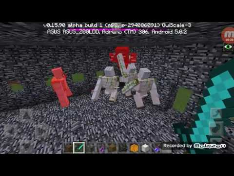 MOBS BATTLE—IRON GOLEM VS WITHER BOSS—MINECRAFT PE INDONESIA 0.15.9.07 GOOD!!!!
