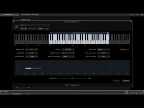 Logic Pro FastTrack 304: Auto Sampling with MainStage - 9. Starting the Sampling Process