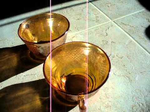 Carnival Glass Teacups