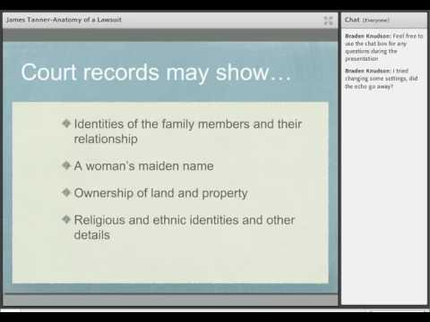 The Anatomy of a Court Case for Genealogists - James Tanner