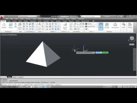 The VOLUME Command - AutoCAD