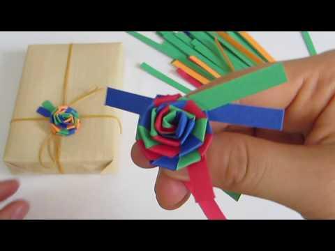 DIY PAPER STRIP ROSES TUTORIAL