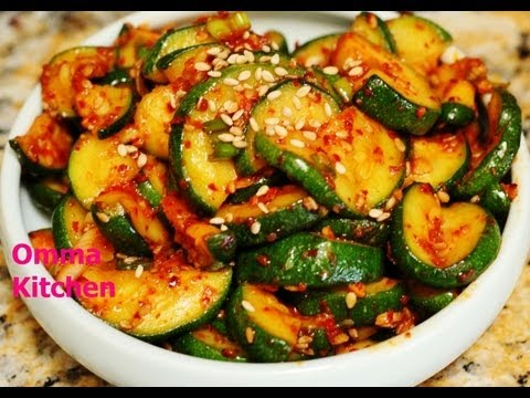Spicy Korean Sauteed Zucchini (Squash) Side Dish (호박볶음) Vegan Recipe by Omma's Kitchen