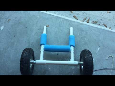DIY Asecend FS128T kayak cart