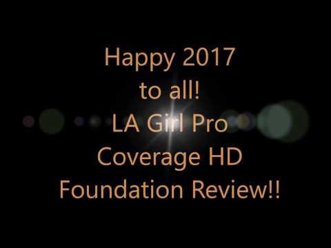 2017 LA Girl HD Foundation Review
