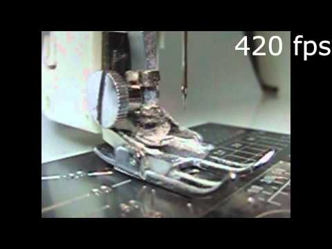 Sewing Machine in Slow-Motion