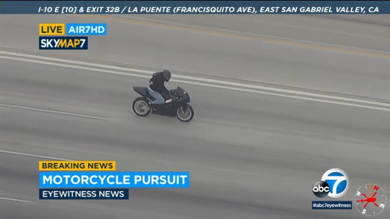 Motorcyclist leads authorities on high-speed chase through San Gabriel Valley | ABC7