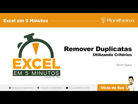 Excel em 5 minutos -  REMOVER DUPLICATAS COM CRITÉRIO