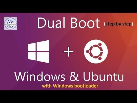 Install Ubuntu (16.04.3) alongside Windows with Windows boot manager  (Windows bootloader)