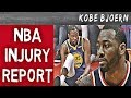 Alle Verletzungen Der NBA Stars 2020 Durant Wall Klay PG13 Kobebjoern Uncut
