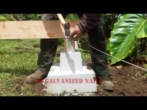 Off Grid Bathroom Project Part 1 - Foundation framing and subfloor