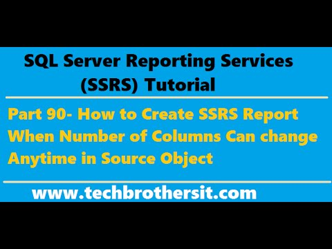 SSRS Tutorial 90- How to Create SSRS Report with Dynamic Columns ( Source Definition Change)