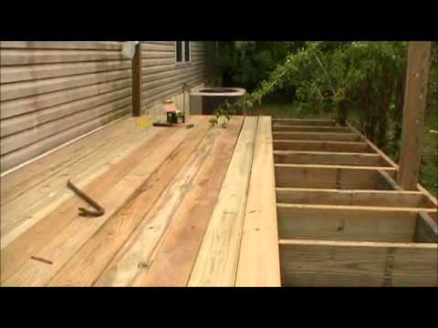 Laying The Decking On The Porch