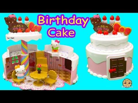 Hello Kitty BIRTHDAY CAKE HOUSE Playset + Shopkins , Disney Frozen Fahsems Blind Bag Unboxing
