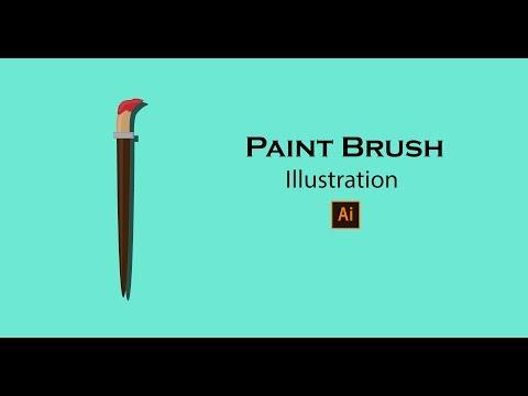 How to create icon paint brush || Illustrator Tutorials