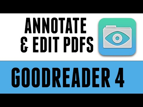How to annotate and edit a pdf in Goodreader 4
