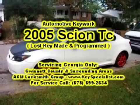 2005 Scion Tc - Lost Key Made & Programmed! Locksmith Duluth GA