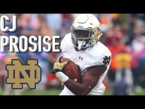 CJ Prosise || Mid Round Steal || Notre Dame Highlights