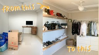 EXTREME ROOM MAKEOVER: turning my room into a closet!