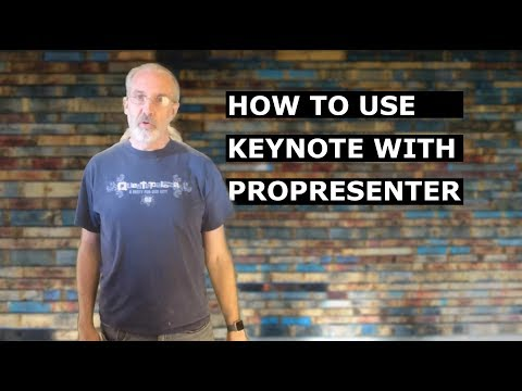 How to Use Keynote with ProPresenter